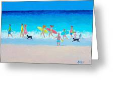 The Beach Parade Greeting Card