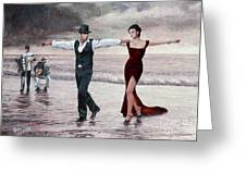 The Beach Quartet, Lady In Red Greeting Card