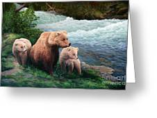 The Bears Of Katmai Greeting Card