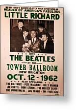 The Beatles And Little Richard Poster Collection 6 Greeting Card