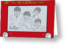 The Beatles Greeting Card by Ron Magnes
