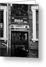 The Beatles Shop In Mathew Street In Liverpool City Centre Birthplace Of The Beatles Merseyside  Greeting Card