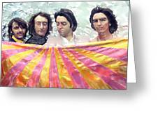 The Beatles. Watercolor Greeting Card