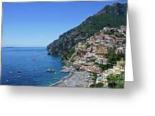 The Beautiful And Famous Amalfi Coast Greeting Card
