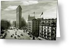 The Beautiful Flatiron Building Circa 1902 Greeting Card