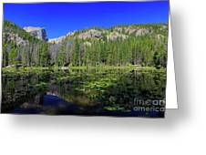 The Beautiful Nymph Lake With Reflection And Clear Water Greeting Card
