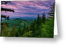 The Beautiful Olympic Mountains At Dawn - Olympic National Park, Washington Greeting Card