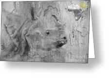 The Beautiful Rhino Greeting Card