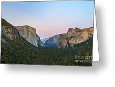 The Beautiful Tunnel View Of Yosemite Greeting Card