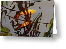 The Beauty Of Goldfish Greeting Card