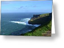 The Beauty Of Ireland's Cliff's Of Moher And Galway Bay  Greeting Card
