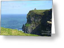 The Beauty Of Ire'land's Cliff's Of Moher In County Clare Greeting Card