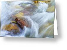 The Beauty Of Silky Water Greeting Card