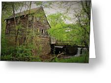The Beauty Of The West Point On The Eno Grist Mill - Durham, N.c. Greeting Card