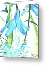 The Beauty Of Watery Reflection Greeting Card