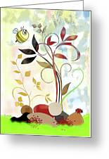The Bee And The Ladybug Greeting Card