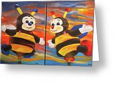 The Bees, Joey And Lilly Greeting Card