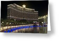 The Belagio A Night View Greeting Card