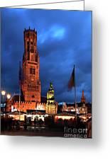 The Belfort Tower, Belfry, Bruges City, West Flanders Greeting Card