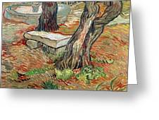 The Bench At Saint Remy Greeting Card