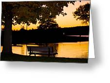 The Bench By The Lake Greeting Card by Danielle Allard