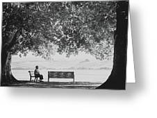 The Bench Man Greeting Card