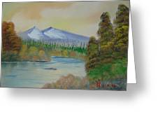 The Bend In The River Greeting Card