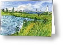 The Berkeley Island Pond Greeting Card