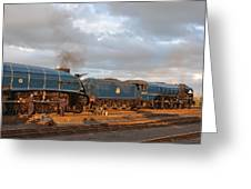the Big Blue Engines  Greeting Card