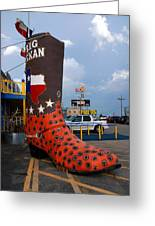 The Big Boot Greeting Card