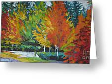 The Big Red Tree Greeting Card