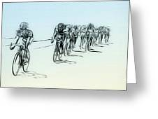 The Bike Race Greeting Card
