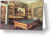 The Billiard Room At Menil-hubert Greeting Card