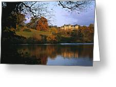 The Biltmore Estate Is Reflected Greeting Card by Melissa Farlow