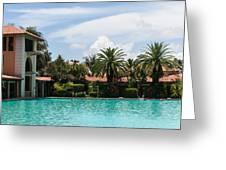 The Biltmore Pool Greeting Card
