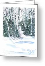 The Birch Trees Greeting Card