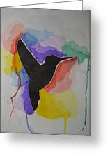 The Bird And Colors  Greeting Card