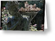 The Bird Bath Greeting Card