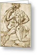 The Birth Of Bacchus From Jupiter's Thigh Greeting Card