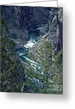 The Black Canyon Of The Gunnison Greeting Card