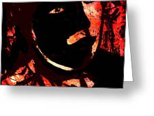 The Black Mask Greeting Card