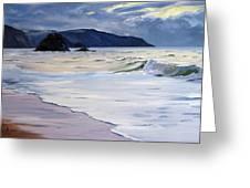 The Black Rock Widemouth Bay Greeting Card