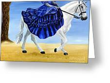 The Blue And The White - Princess Starliyah Riding Candis Greeting Card