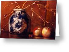 The Blue And White Vase Greeting Card