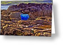 The Blue Bucket Greeting Card