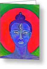 The Blue Buddha Greeting Card