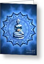 The Blue Buddha Meditation Greeting Card