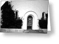 The Blue Door B And W Greeting Card