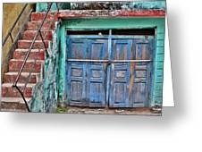 The Blue Door - India Greeting Card