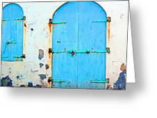 The Blue Door Shutters Greeting Card